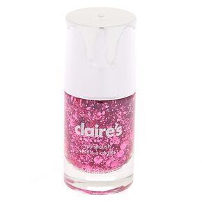 Glitter Nail Polish - Pink Confetti,
