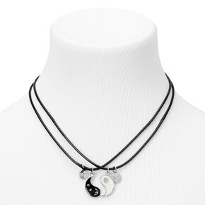 Best Friends Sun & Moon Yin Yang Pendant Cord Necklaces - 2 Pack,