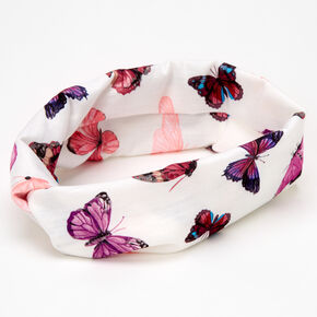 Butterfly Twisted Headwrap - Pink,