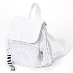 Nylon & Mesh Mini Backpack - White,