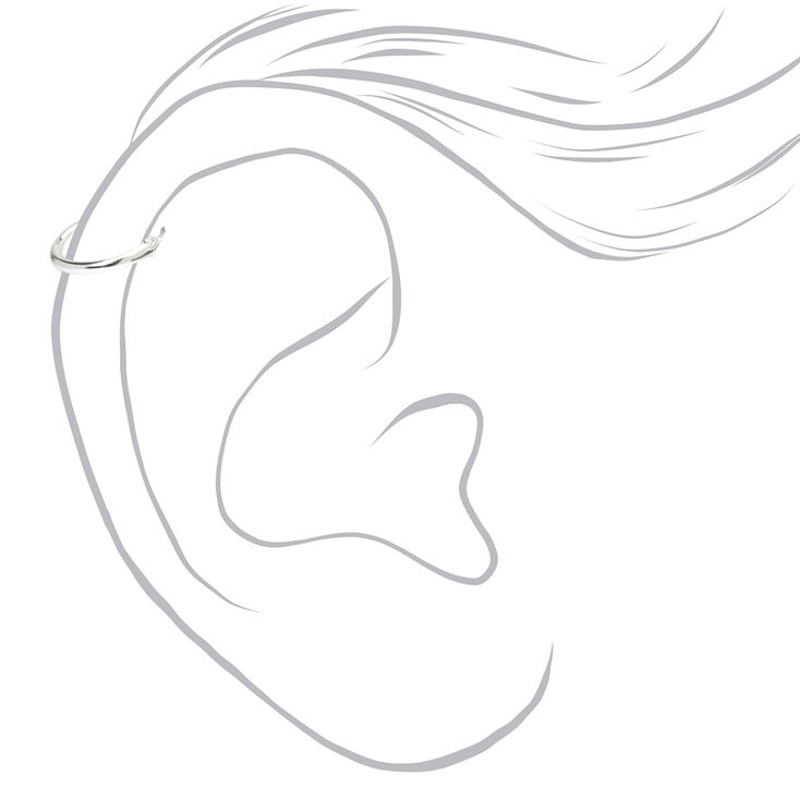 Anneaux pour piercing de cartilage clic clac 0,6mm couleur argentée - Lot de 3,