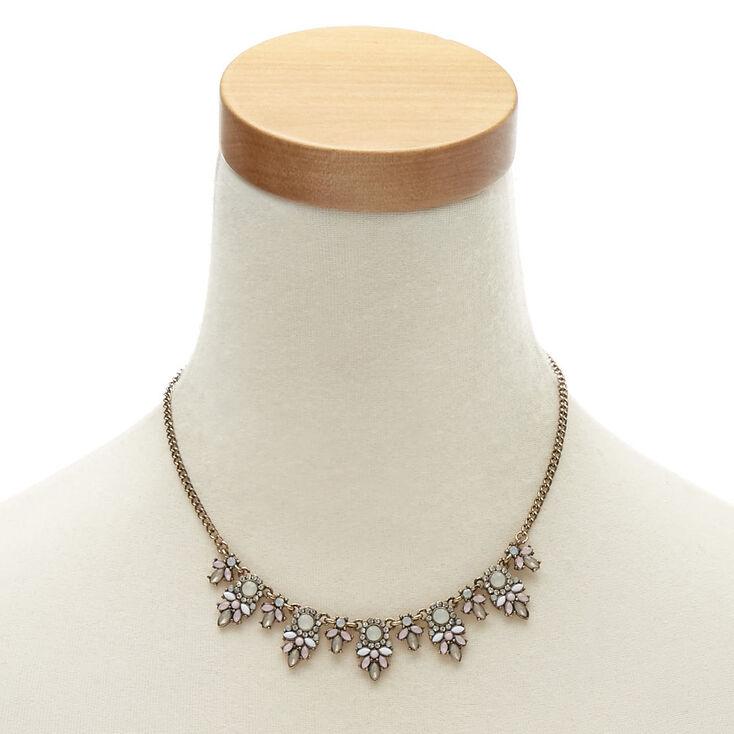 Parure de bijoux couleur bronzé à fleurs style vintage,