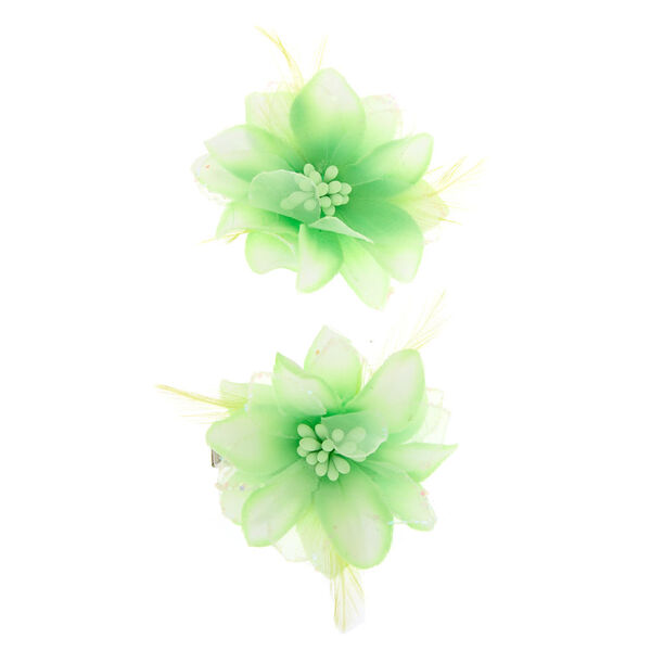 Claire's - glitter lily flower hair clips - 1