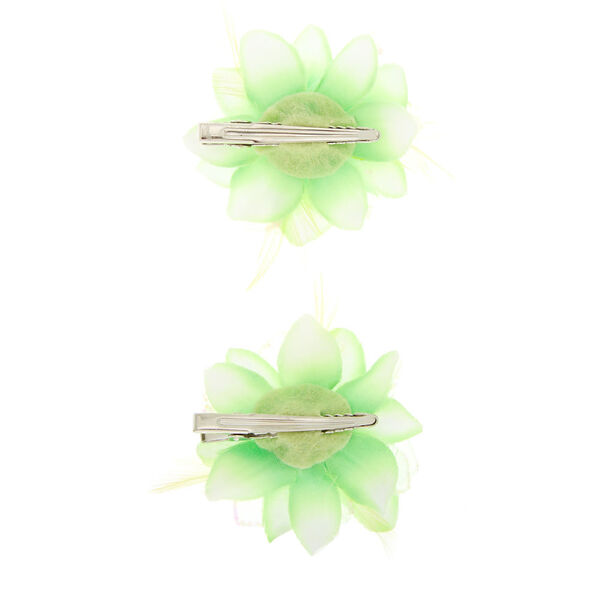 Claire's - glitter lily flower hair clips - 2