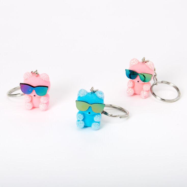 Bears Wearing Sunglasses Best Friends Keychains - 3 Pack,