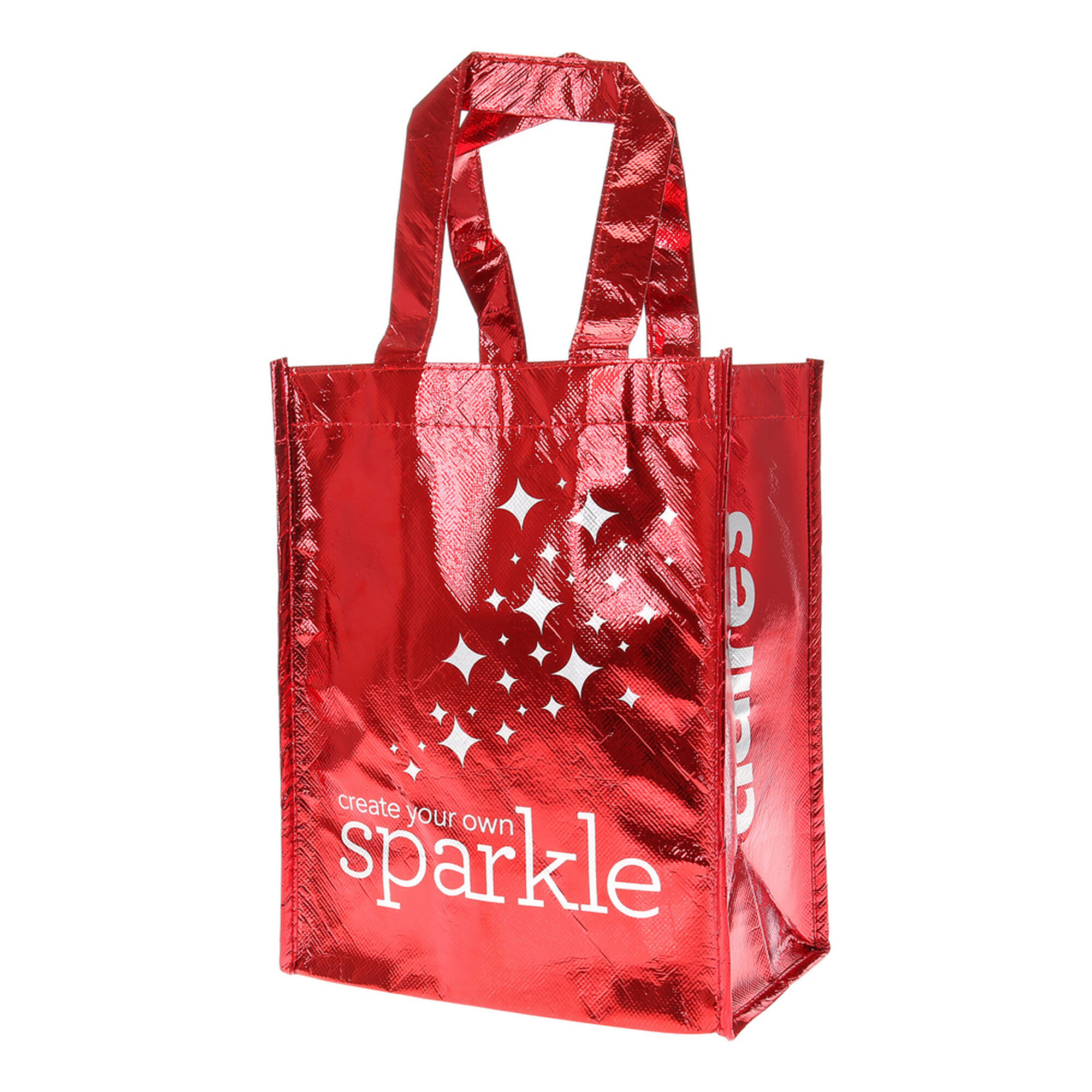 create your own sparkle christmas tote bag