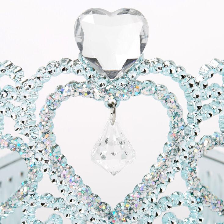 Claire's Club Princess Heart Charm Tiara - Turquoise,