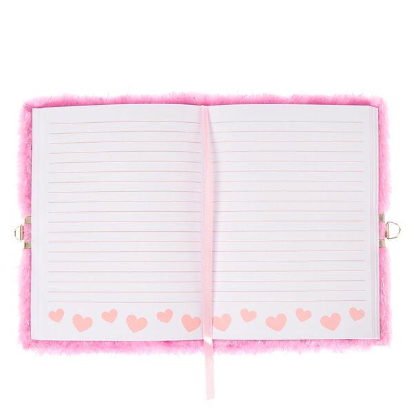 Claire's - unicorn lock soft notebook - 2