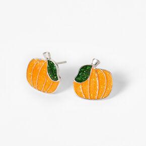 Clous d'oreilles Halloween citrouille à paillettes,