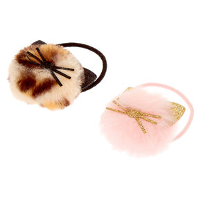 Claire's Club Pom Cat Hair Bobbles - 2 Pack,