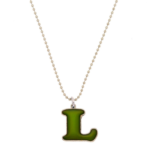 Claire's - mood initial pendant necklace - 1