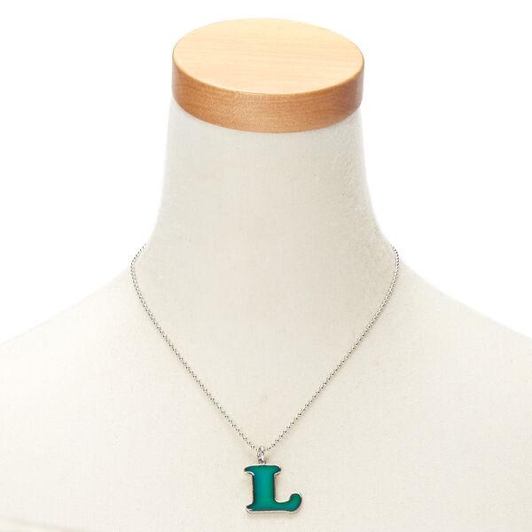 Claire's - mood initial pendant necklace - 2
