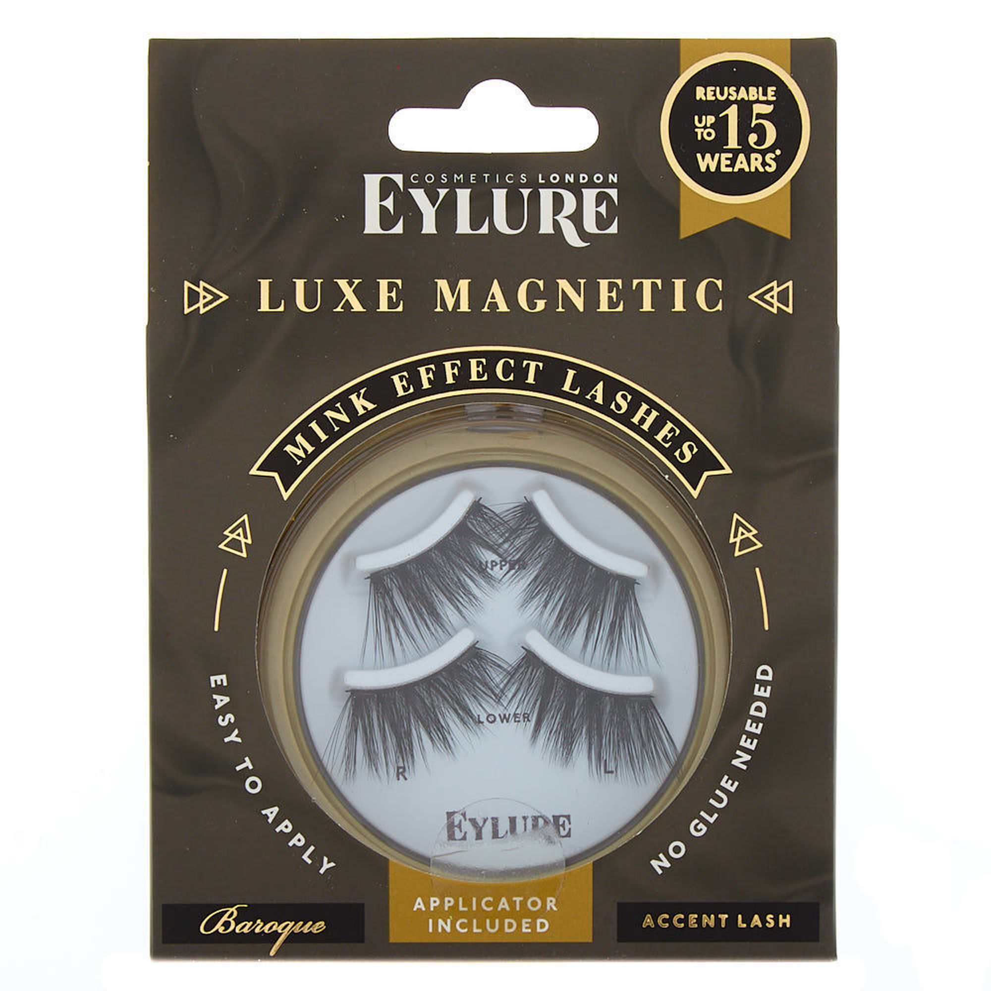 b22b02c6a3e Eylure Luxe Magnetic False Lashes - Baroque | Claire's