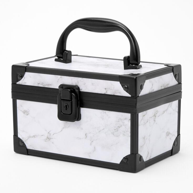 Black and White Marble Lock Box,