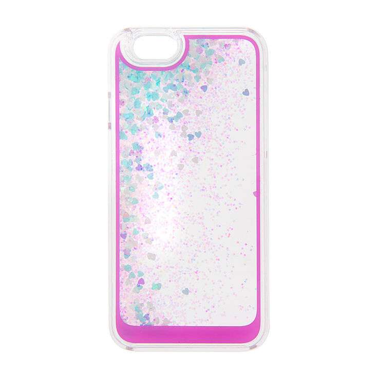 quality design 0b33b 42e12 Floating Iridescent Hearts and Glitter Phone Case