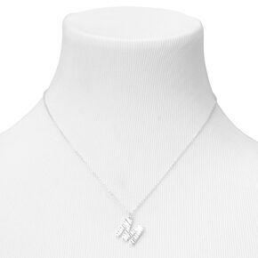 Silver Ridge Initial Pendant Necklace - M,