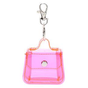 Mini Purse Keychain - Neon Pink,