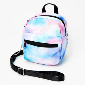 Pastel Tie Dye Mini Backpack Crossbody Bag,