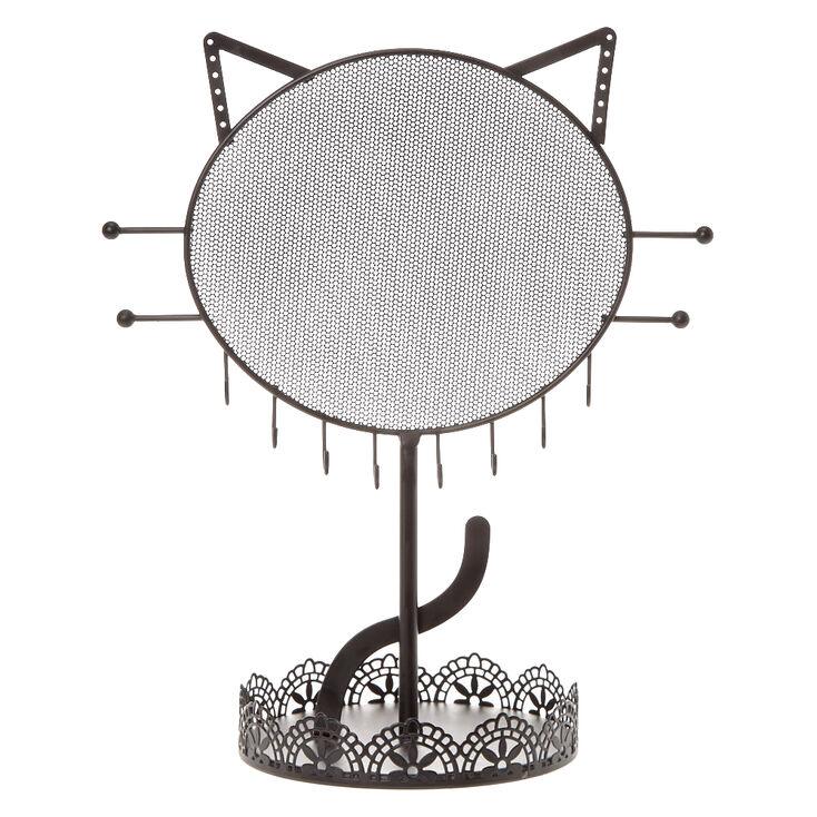 Cat Jewellery Holder - Black,