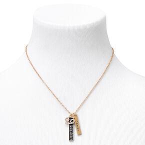 Gold Zodiac Symbol Pendant Charm Necklace - Cancer,