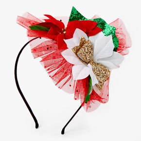 Poinsettia Headband - Red,