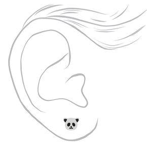 Panda Stud Earrings - White,