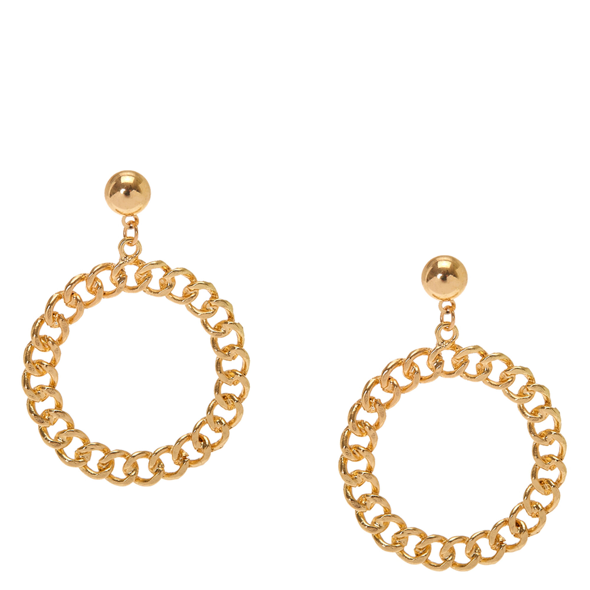 double round statement avella circular bonas oliver d jewellery earrings studs gold drop davella