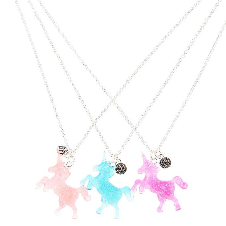 Best Friends Glitter Unicorn Pendant Necklaces,