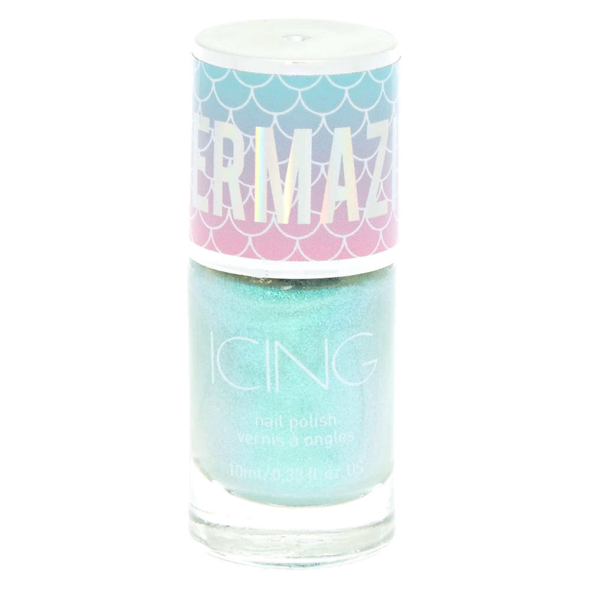 Mermazing Iridescent Nail Polish - Mermaid Mint - Claire\'s at £5.5 ...