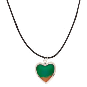 Mood Heart Locket Pendant Necklace,