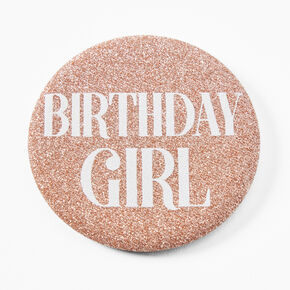 Badge à sequins Birthday Girl - Rose,