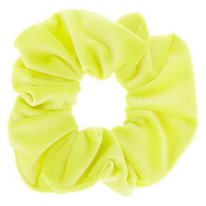 Medium Velvet Hair Scrunchie - Neon Yellow,