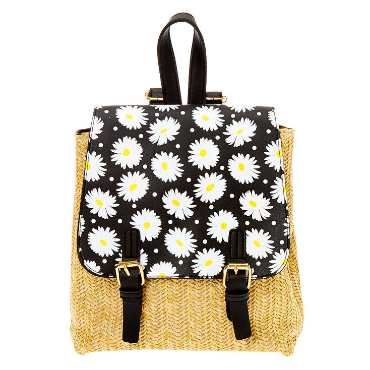 Daisy Straw Small Backpack,