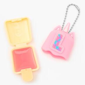 Pucker Pops® Initial Lip Gloss - Pink, L,