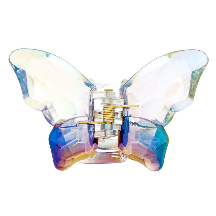 Large Iridescent Butterfly Hair Claw,