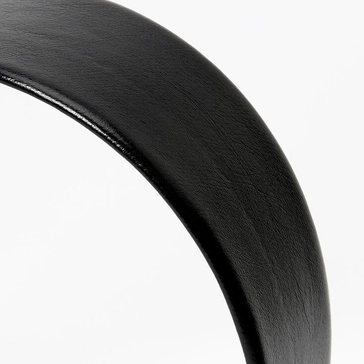 PU Wide Headband - Black,