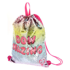 a3091bae0fe24 JoJo Siwa™ Bow Mazing Reverse Sequin Drawstring Backpack - Pink