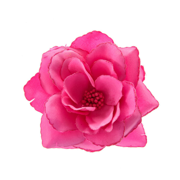 Flower hair claw clip Pink peony hair clip Floral barrette Pink peony fascinator