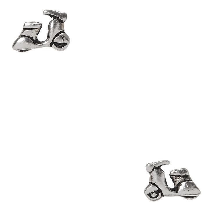 Sterling Silver Vespa Earrings,