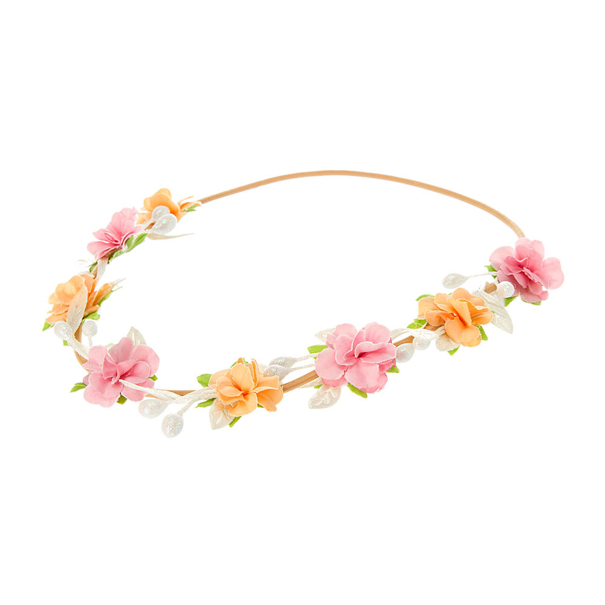 Pink And Orange Flower Vine Headwrap Claires Us