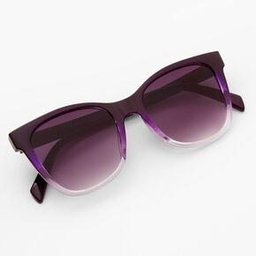 Ombre Retro Sunglasses - Purple,