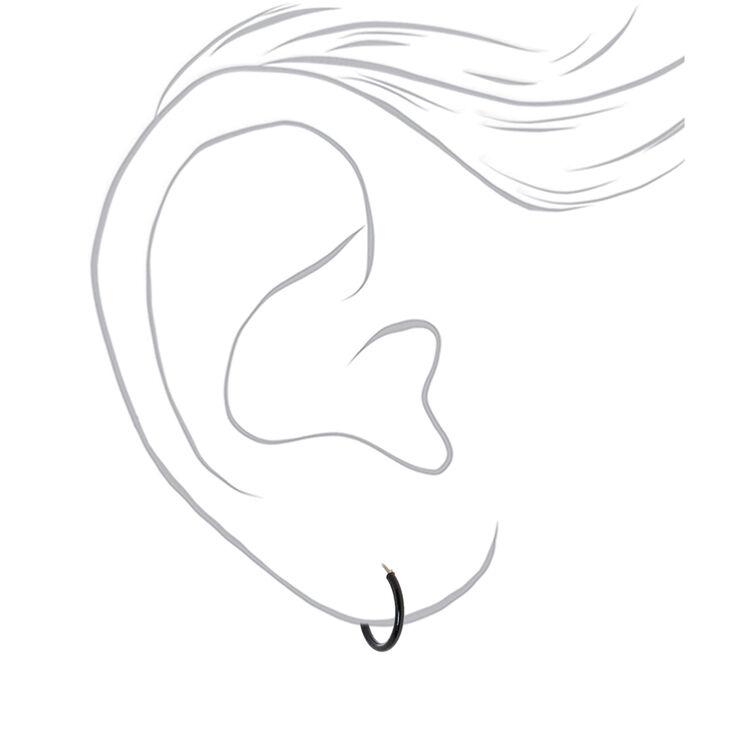 10MM Hoop Earrings - Black,