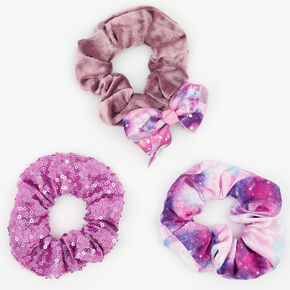 JoJo Siwa Pastel Ombre Hair Scrunchies – Purple, 3 Pack,