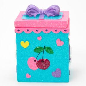 Glitter Cherries Trinket Keepsake Box,