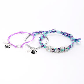 Sky Brown™ Peace Braided bracelets – Purple, 3 pack,