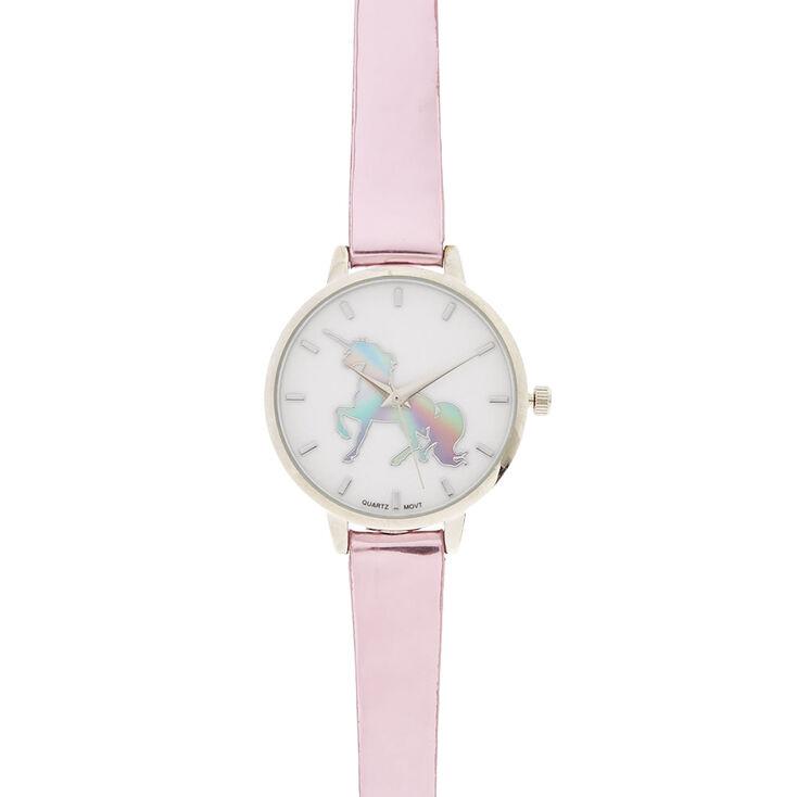 Pink Metallic Unicorn Watch,