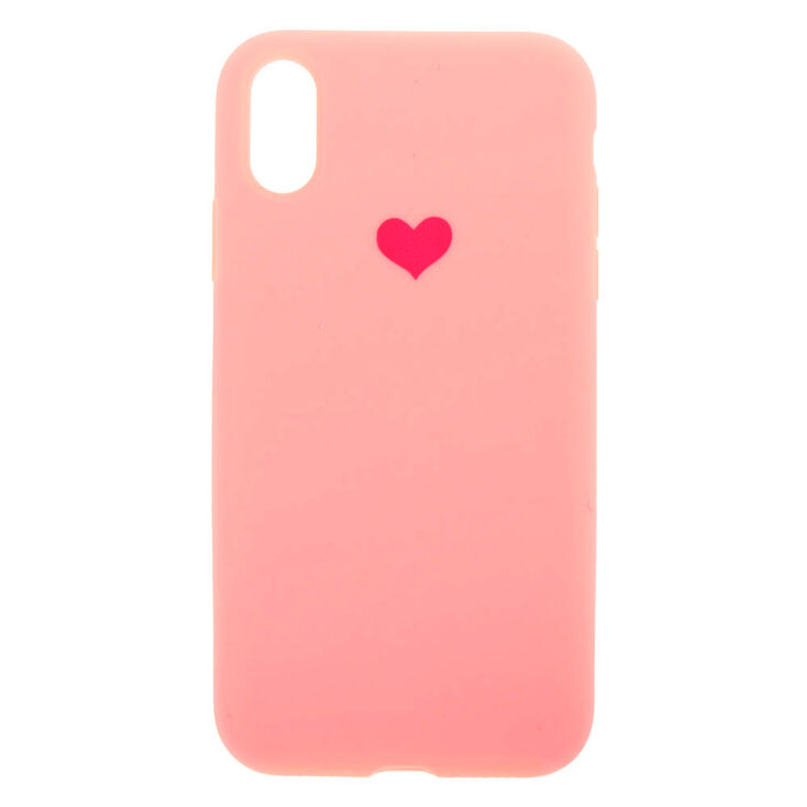 Pink Heart Phone Case - Fits iPhone XR,