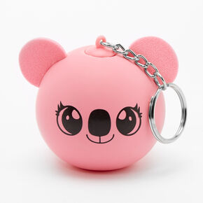 Koala Head Squish Ball Keychain - Pink,