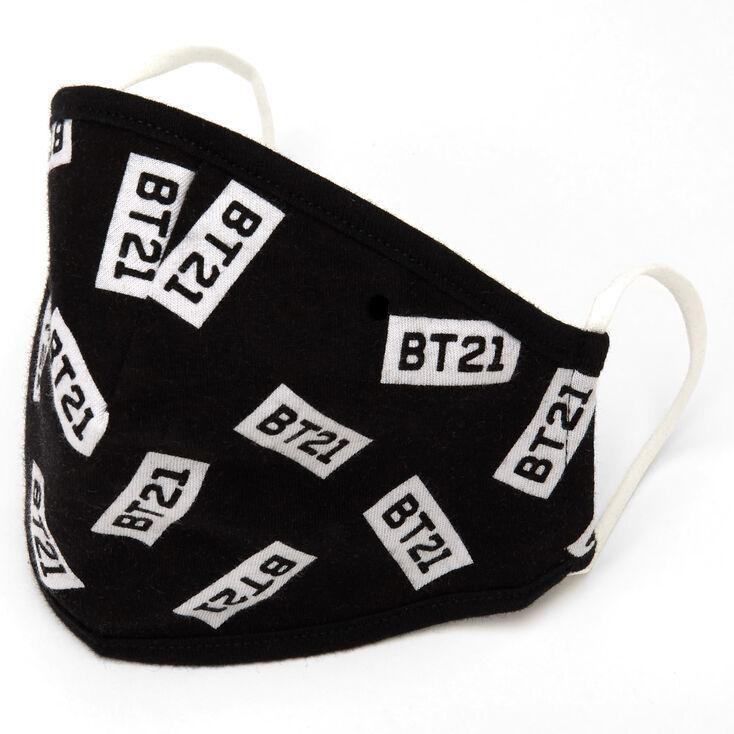 BT21© Cloth Face Mask – Black, Child medium/large,