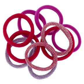 Lot de 10élastiques à cheveux pailletté couleur fruits rouges,